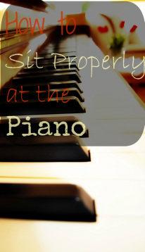 proper piano playing posture
